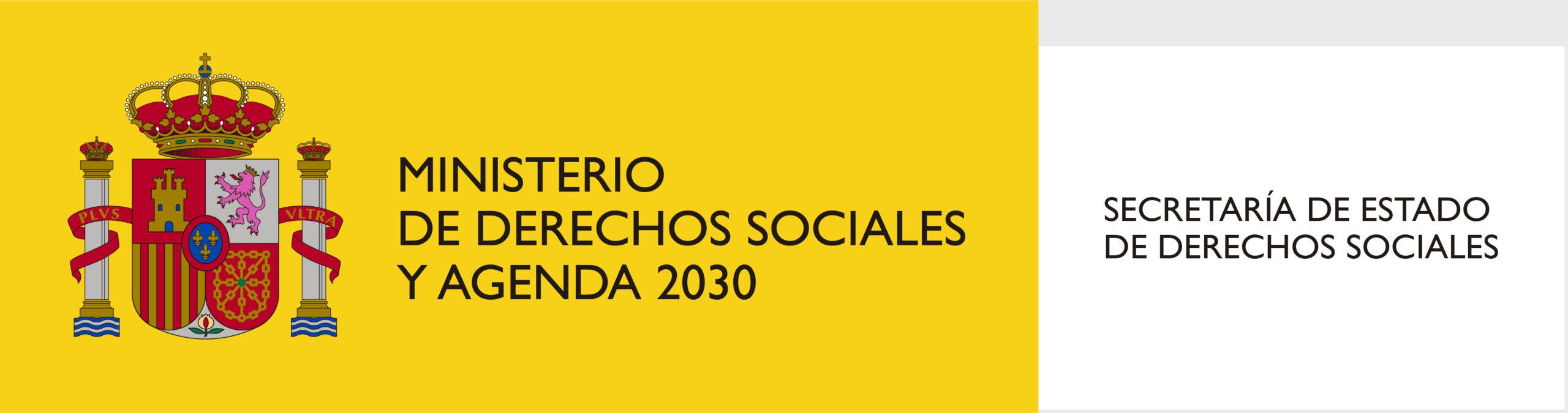LOGOTIPO DE MINISTERIO S SOCIALES Y AGENDA 2030